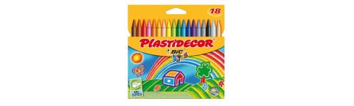 Material escolar: Ceras, lápices y rotuladores