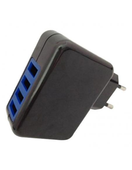 CARGADOR PARED LEOTEC LECTAB4USB - PARA TABLET Y SMARTPHONE - 4XUSB (1X2.1A/1X1A/2X0.5A) - INCLUYE CABLE CONECTOR 2.5 X 0.7MM +