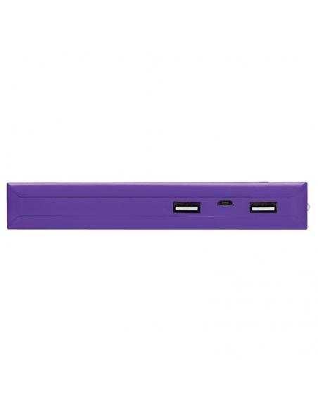 BATERÍA EXTERNA TRUST URBAN PURPLE PRIMO POWERBANK 10000MAH - USB 5W/1A + USB 10W/2.1A - 2XCABLE MICROUSB - FUNC. LINTERNA - UNI