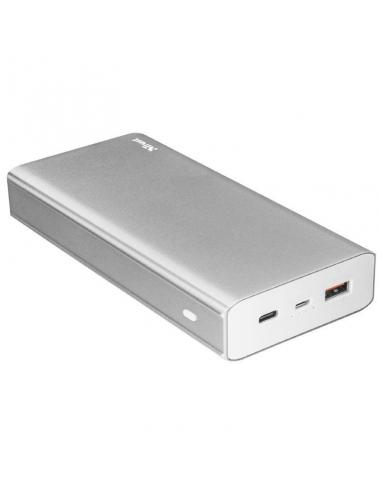 BATERÍA EXTERNA TRUST URBAN OMNI PLUS METAL POWERBANK 20000MAH -  USB TIPO A 5V/2.4A/12W QC3.0 15W + USB TIPO C 5V/3A/15W - Imag