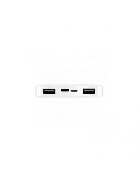 BATERÍA EXTERNA XIAOMI REDMI 10000MAH BLANCA - ENTRADA MICROUSB / USB TIPO-C - SALIDA 2* USB - 5V/2.4A - Imagen 4
