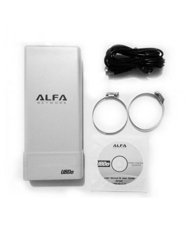 ADAPTADOR USB WIFI ALFA NETWORK UBD0-NT - EXTERNO - LARGO ALCANCE - 2000MW - 12DBI / 2.4GHZ - USB - CABLE 5 METROS - Imagen 1