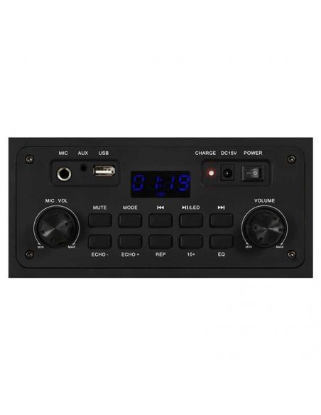 ALTAVOZ PORTÁTIL FONESTAR CALIFORNIA - 200W - BT - USB/MP3 - FM - FUNCIÓN KARAOKE - MICRÓFONO INALÁMBRICO - MANDO A DISTANCIA -