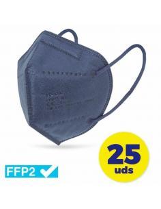 CAJA DE MASCARILLAS FFP2 CLUB NÁUTICO 25 UNIDADES - COLOR AZUL - ENVASADAS DE FORMA INDIVIDUAL - 5 CAPAS PROTECCIÓN - Imagen 1