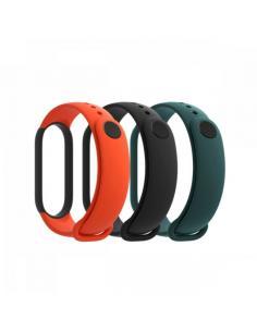 Pack de Correas para Pulsera Xiaomi Mi Smart Band 5 Strap/ 3 unidades/ Negro/ Naranja/ Verde - Imagen 1