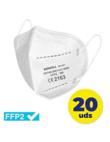 Mascarillas FFP2 Keholl/ Pack 20 uds/...